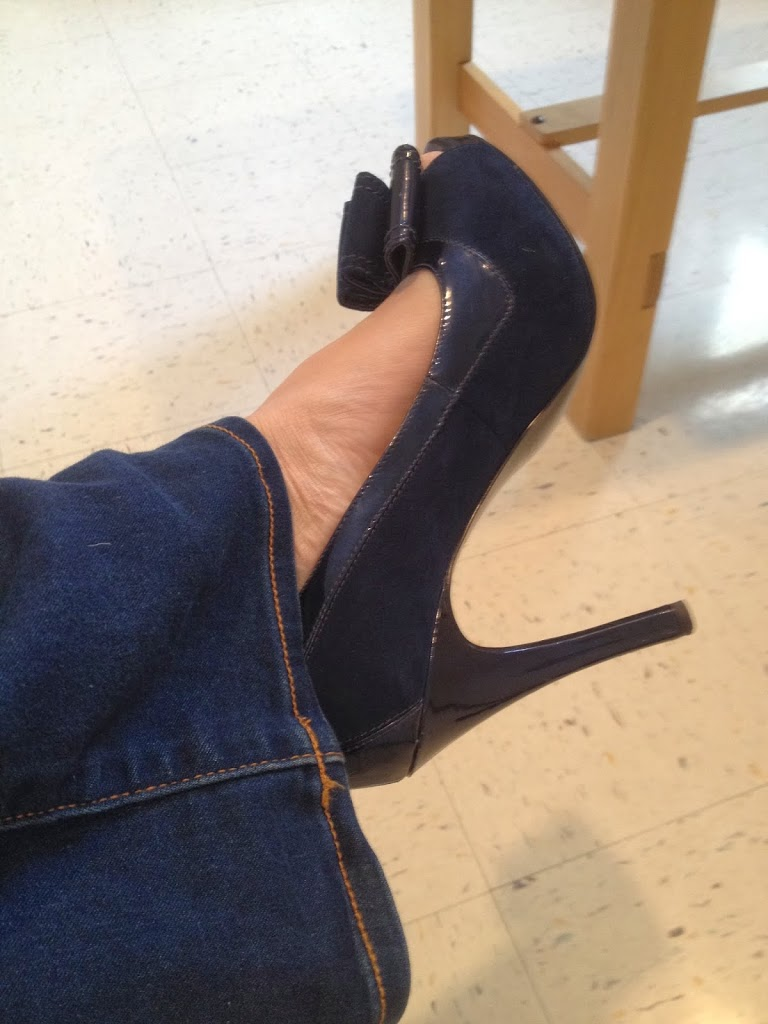 I Recommend Wearing Blue Suede Shoes To Your Mammogram