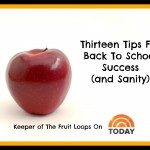 School Daze:  13 Tips For Back To School Success (The Keeper On Today)