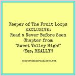 """KOTFL Exclusive: Read A Never Before Seen """"Sweet Valley High"""" Chapter!"""