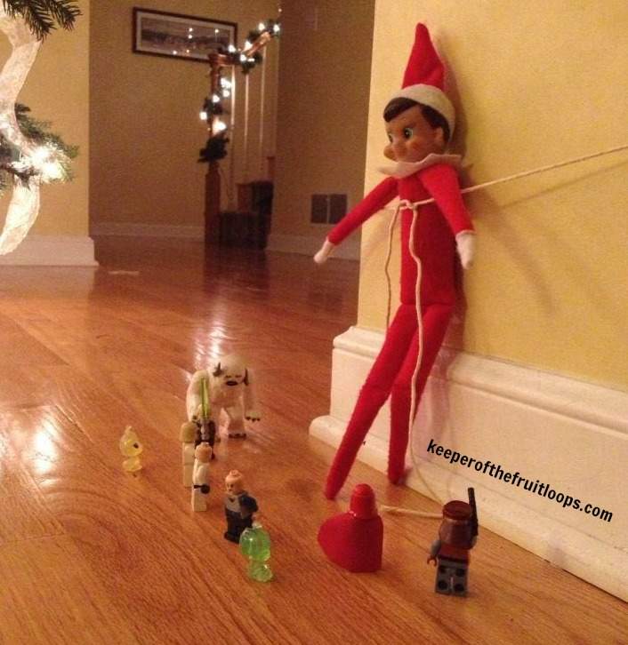 Elf on The Shelf with Lego characters